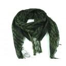 Shemagh arab sál fekete-zöld