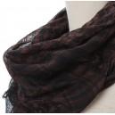 Shemagh arab sál fekete-barna színben