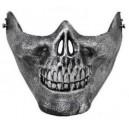 """""""Skull"""" félmaszk """"ezüst"""""""