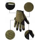 """""""Mechanix M-Pact"""" mintájú protektoros taktikai kesztyű """"XL"""" méretben, """"OD"""" színben"""