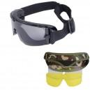 GX1000 szemüveg 3 lencsével, Multicam tokban, fekete kerettel