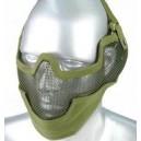 1166 LM rácsos, fülvédős félmaszk zöld
