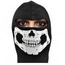 17930 Egész maszk fekete skull vékony