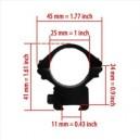 P452 25/11 mm-es szerelék alacsony 1 db
